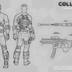 code orange games collision pathfinder smg concept art