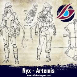 The nyx Artemis. She is armed with a Composite bow, that makes here a silent killer on long range