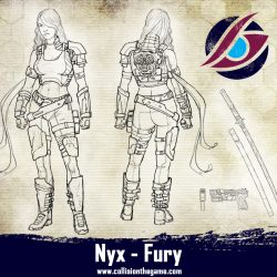 The second Fury. She is extremely dangerous up close, armed with a katana and pistol she is a force to be reckoned with!