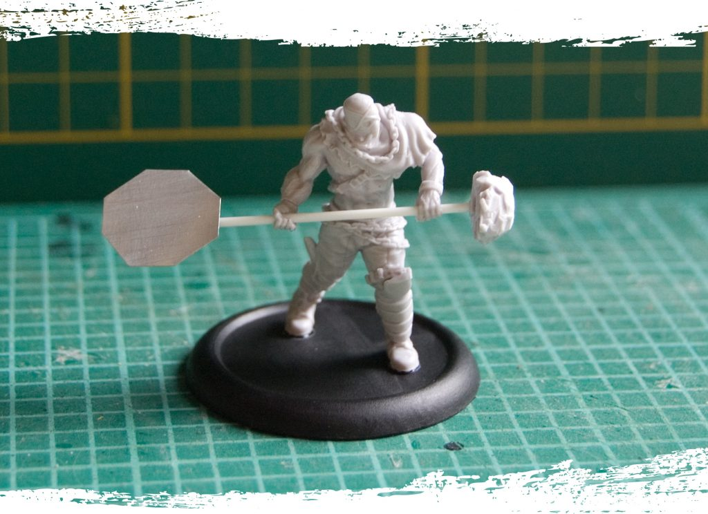 Step 9: All you have to do now is glue your model to the base and you are ready to paint it!