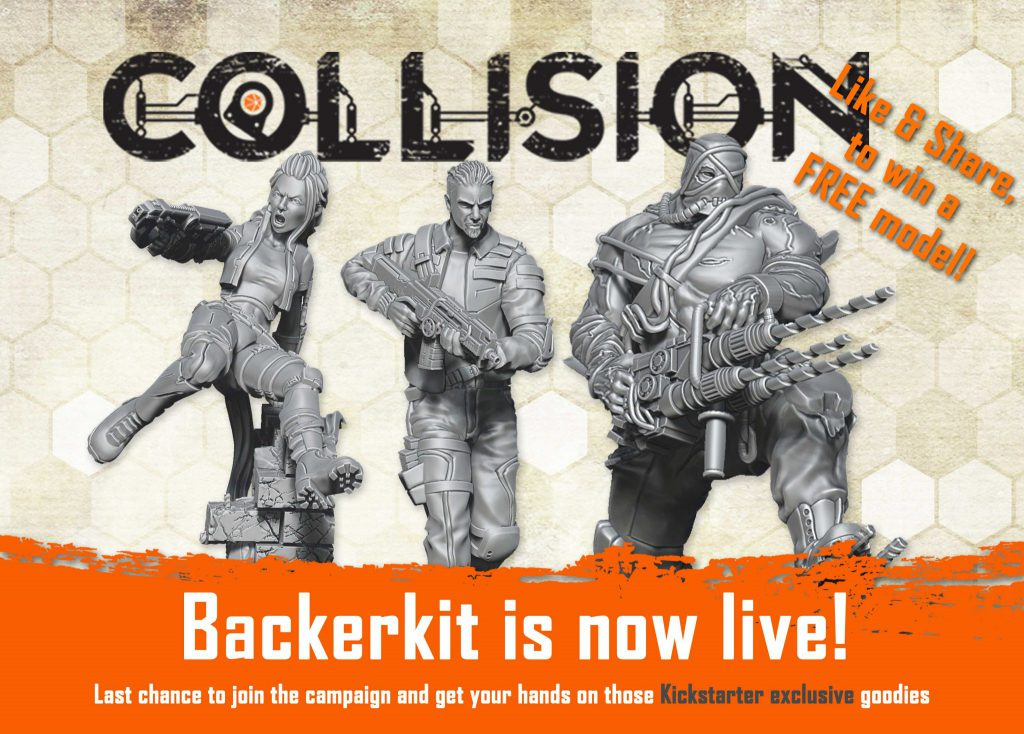 Our BackerKit page is now live! This is your last chance to back Collision and get hold of those awesome Kickstarter campaign exclusives.